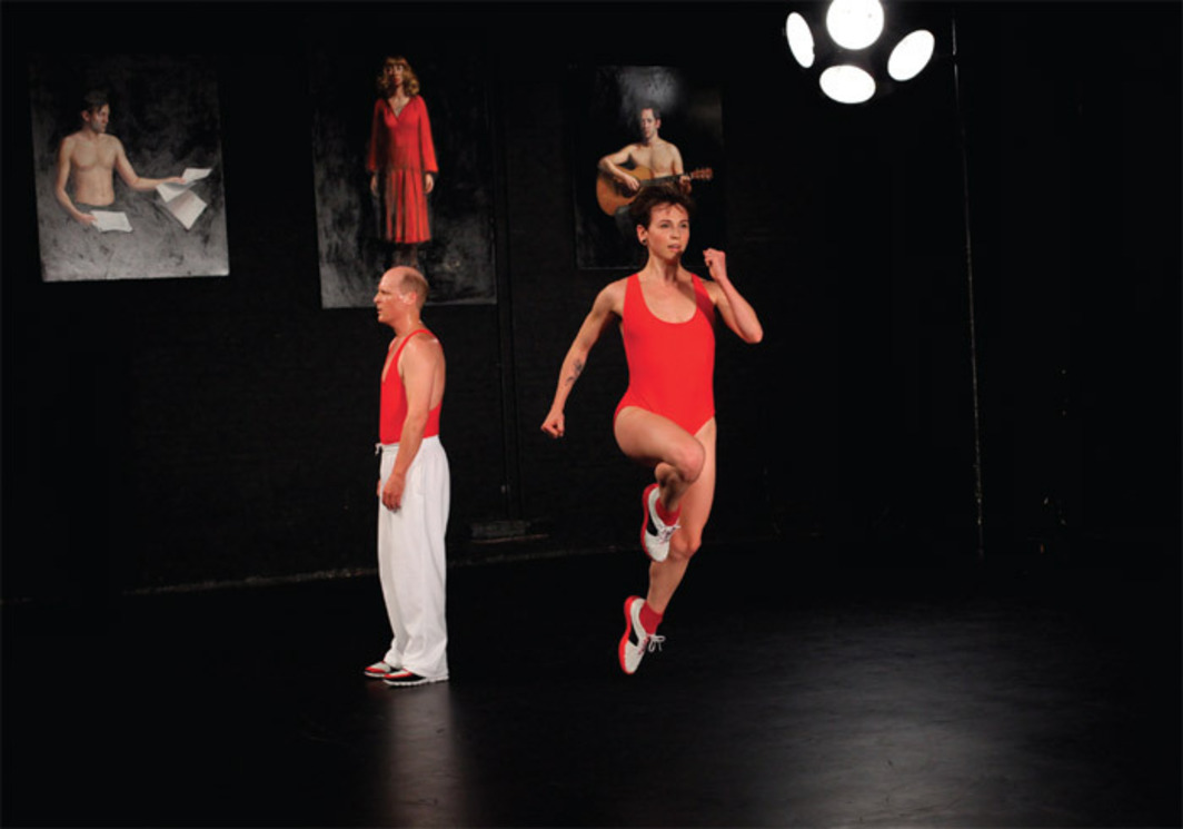 Sarah Michelson, Devotion, 2010. Performance view, 2011. Jim Fletcher (Adam) and Eleanor Hullihan (Eve).