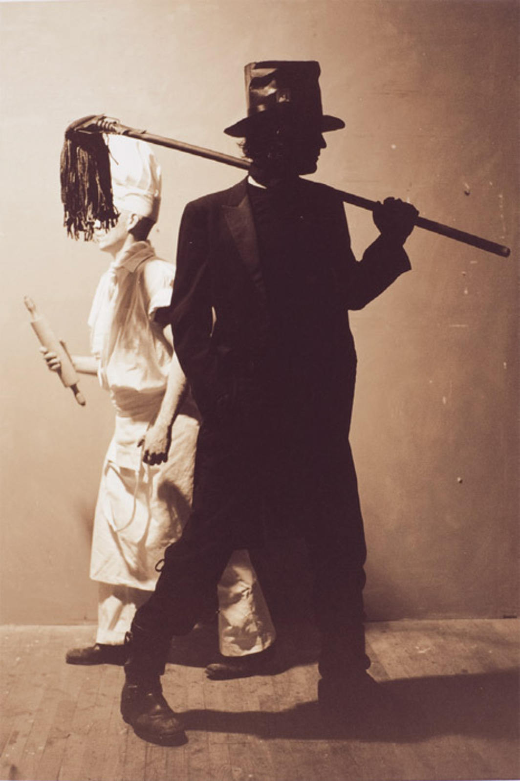"Matthew Benedict, Baker and Chimney Sweep, 2001/2010, sepia-toned black-and-white photograph, 14 x 11""."