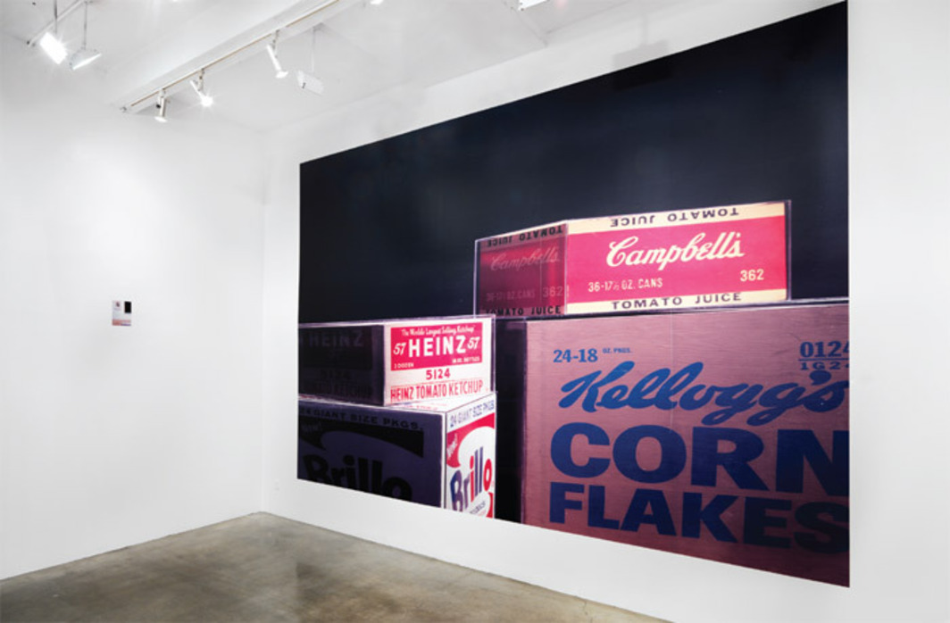 "View of ""Louise Lawler,"" 2011. From left: Life Expectancy (adjusted to fit), 2010–11; Plexi (adjusted to fit), 2010–11."