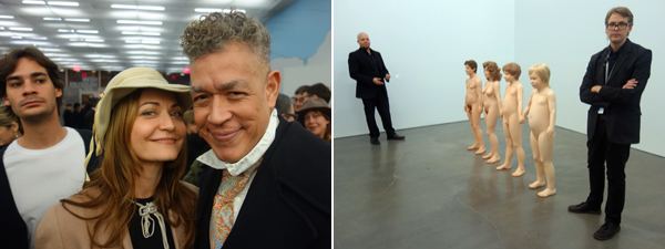 Left: Irina Serrano and artist Andres Serrano. Right: Charles Ray's work. (Photos: Frank Expósito)