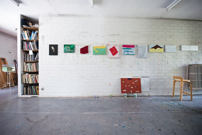 Raoul De Keyser's studio, Deinze, Belgium, 2009. Photo: Christophe Vander Eecken.