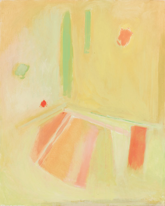 "Esteban Vicente, Untitled, 1999, oil on canvas, 52 x 42""."