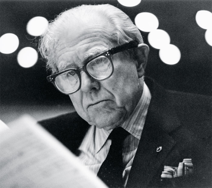 Elliott Carter, Royal Festival Hall, London, February 17, 1991. Photo: Lynda Stone/Getty Images.