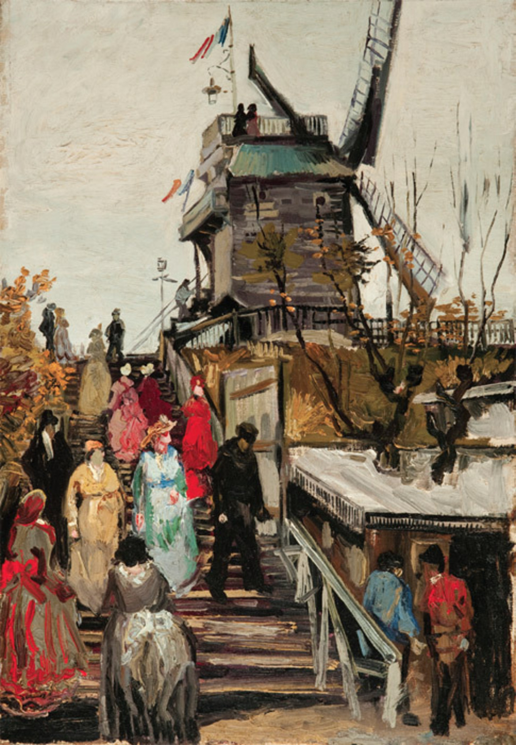 "Vincent van Gogh, The Blute-fin Mill, 1886, oil on canvas, 21 3/4 x 15""."