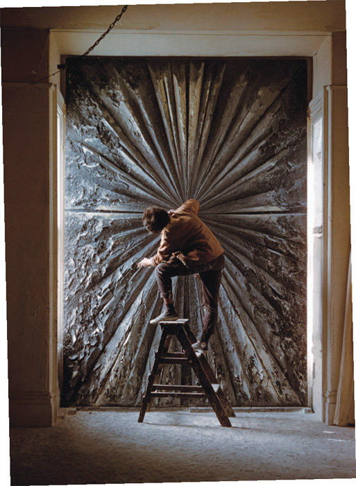 Jay DeFeo working on The Rose, 1958–66, 