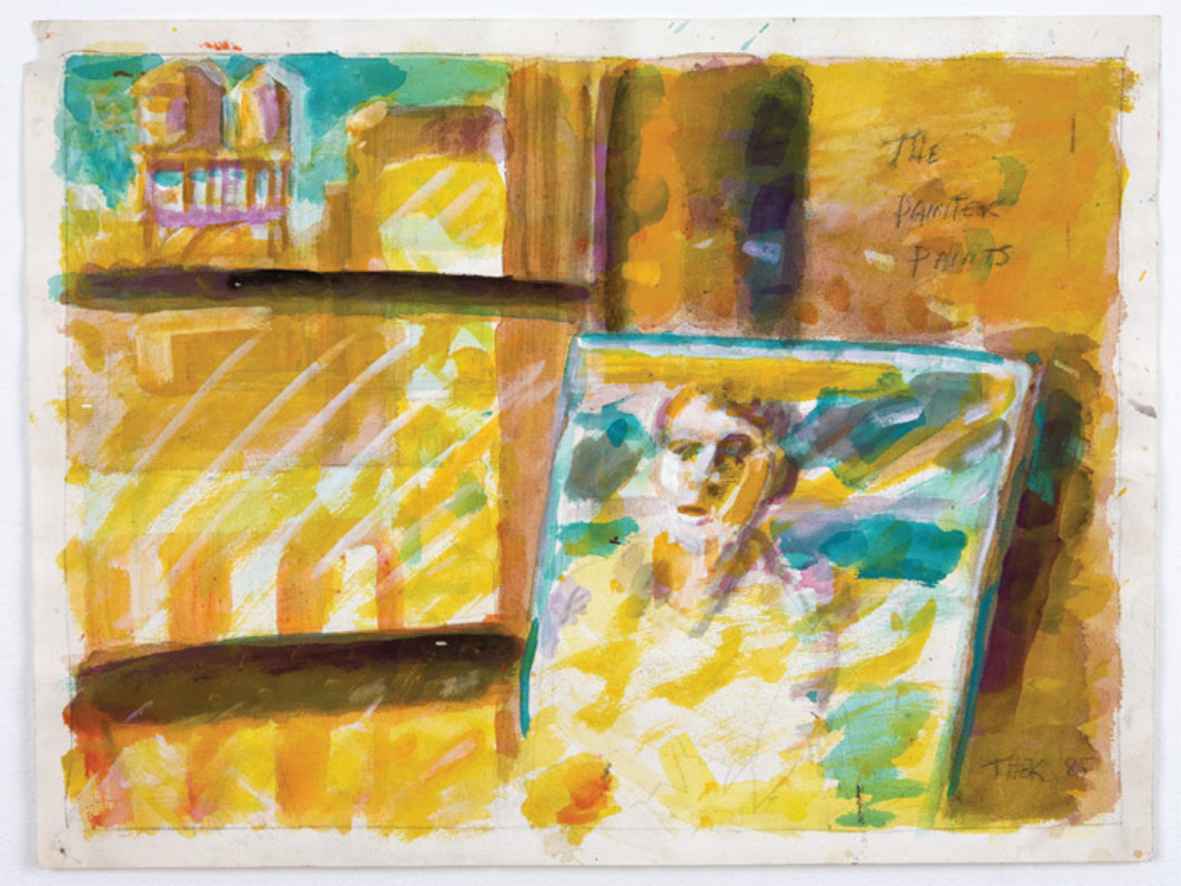"Paul Thek, The Painter Paints, 1985, watercolor and pencil on paper, 18 x 24""."