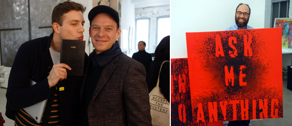 Left: Dealers Federico Vavassori and Alexander Hertling. Right: Dealer Zach Feuer. (Photos: Allese Thomson)
