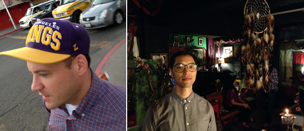 Left: Artist Keith Rocka Knittel. Right: Artist Steve Kado. (Photos: Travis Diehl)