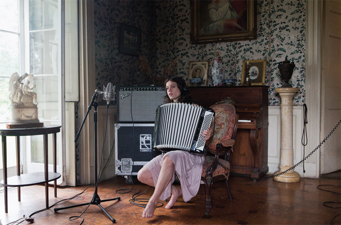 Ragnar Kjartansson, The Visitors, 2012, nine-channel HD video projection, color, sound, 64 minutes.