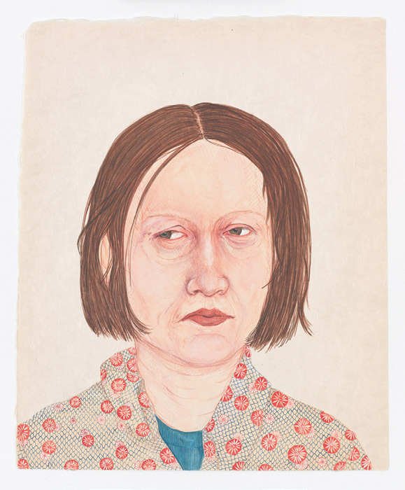 "Amy Cutler, Berta, 2011, gouache on paper, 13 x 10 3/4"". From the series ""Brood,"" 2011."