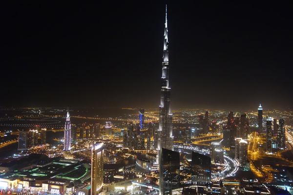 View of Dubai from the penthouse of the Index Tower.