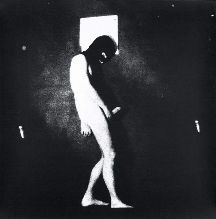 "Brian Weil, Untitled self-portrait (sex), ca. 1980–82, gelatin silver print, 31 3/4 x 33 1/4""."
