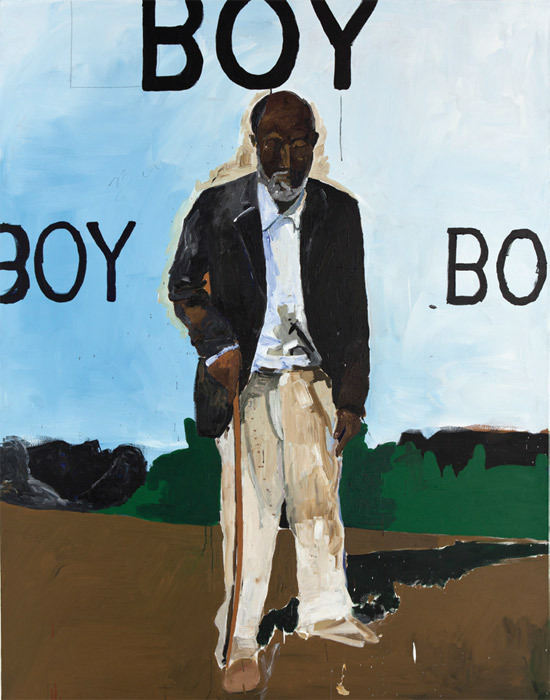 "Henry Taylor, That Was Then, 2013, acrylic on canvas, 95 x 75""."