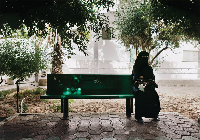"Tanya Habjouqa, Untitled, 2010, C-print, 30 x 40"". From the series ""Women of Gaza,"" 2010. From ""She Who Tells a Story: Women Photographers from Iran and the Arab World."""