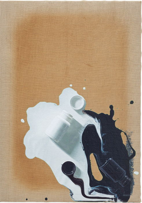 "Paul Sietsema, Chinese Philosophy Painting, 2012, enamel on canvas, 26 1/2 x 18 1/2""."