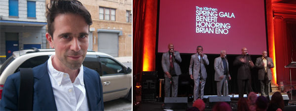 Left: Swiss Institute director Gianni Jetzer. Right: The Persuasions.