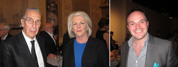 Left: Curator Klauss Kertess with Detroit Institute of Arts curator Becky Hart. Right: Rose Art Museum director Christopher Bedford.
