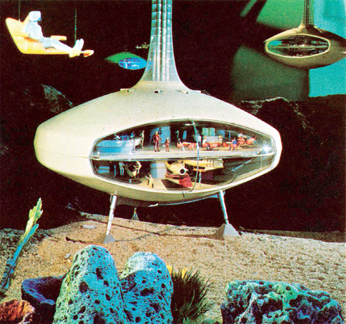 Illustration from Here Is a Foretaste of Tomorrow, promotional pamphlet for General Motors' Futurama II, World's Fair Pavilion, New York, 1964–65.