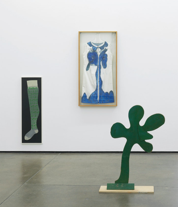 "View of ""Friedrich Kuhn,"" 2013. From left: Untitled, 1969; Untitled, 1969; Palm Tree, 1969."
