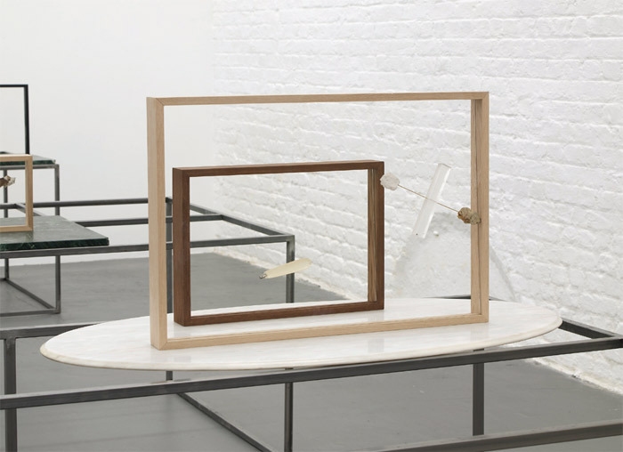 Benoît Maire, Suspended Weapons, 2013, mixed media, dimensions variable.