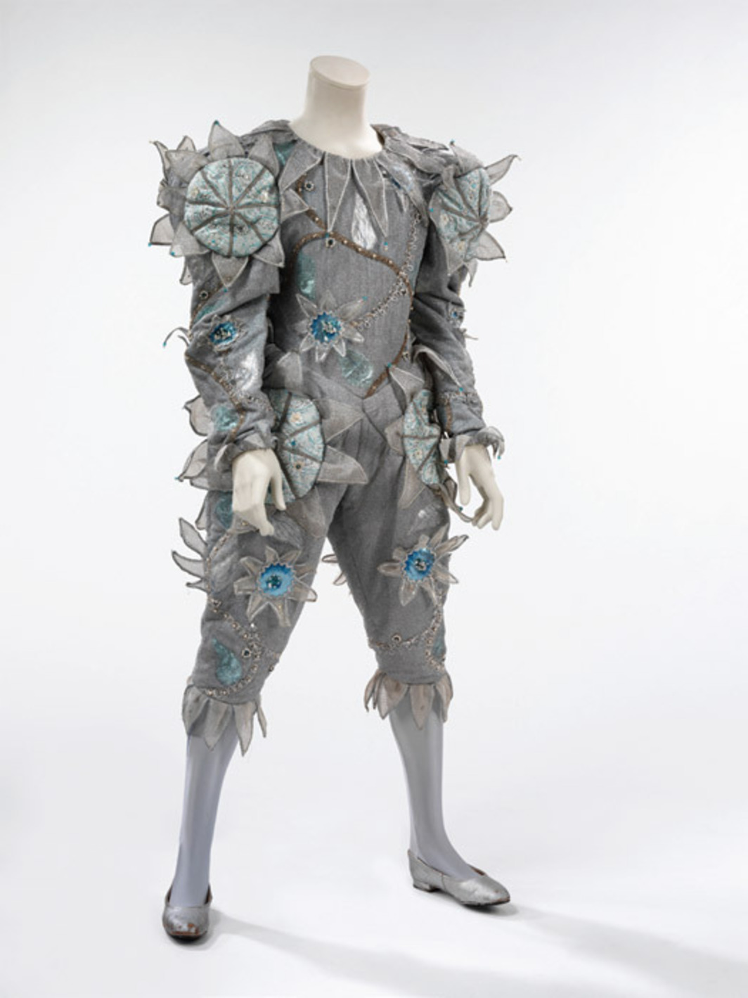"Pierrot costume designed by Natasha Korniloff for David Bowie's 1980 ""Ashes to Ashes"" video."