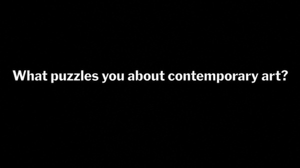 "Still from promotional video for ""Five Puzzles in Contemporary Art,"" an online course through the Museum of Modern Art."