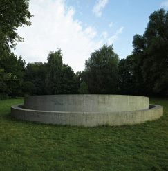 Donald Judd, Untitled_, 1977, cement. Installation view, Lake Aa, Münster, 2007. Photo: Thorsten Arendt.
