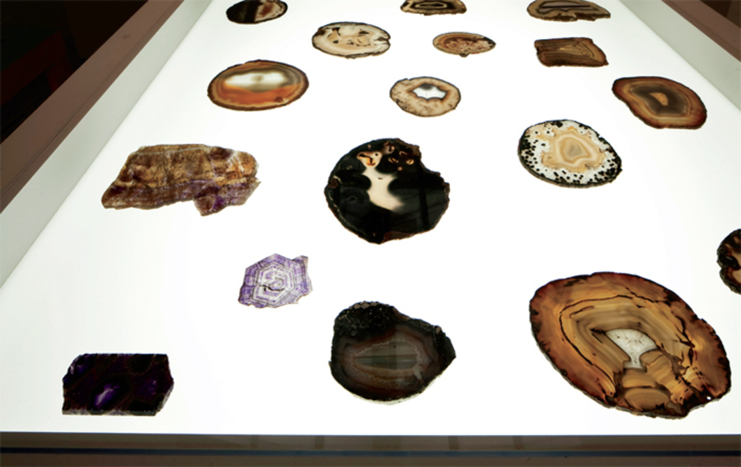 "Stones from Roger Caillois's collection. Installation view, Central Pavilion, Venice, 2013. From ""The Encyclopedic Palace."" Photo: Francesco Galli."