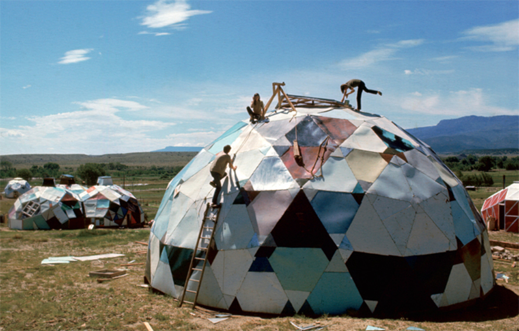 Geodesic dome structures, Drop City, Trinidad, CO, 1967. Photo: Carl Iwasaki/Time & Life Pictures/Getty Images.