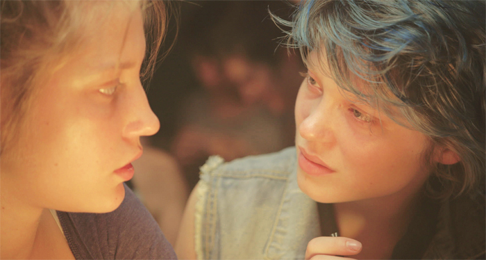 Abdellatif Kechiche, Blue Is the Warmest Color, 2013, digital video, color, sound, 179 minutes. Adèle (Adèle Exarchopoulos) and Emma (Léa Seydoux).