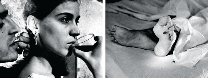 "Mac Adams, The Whisper (Diptych), 1976–77, diptych, gelatin silver prints, each 36 5/8 x 40 1/8""."