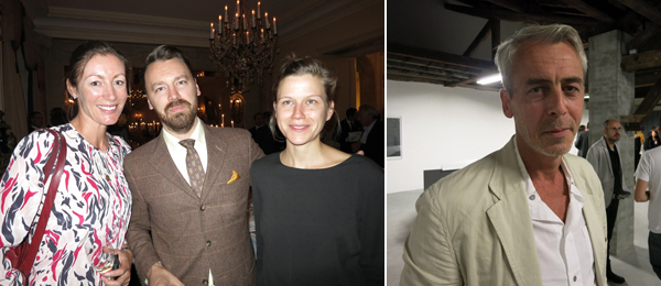 Left: Collector Kate Ritson-Thomas with dealer Ash L'ange and collector Silke Ritson-Thomas. Right: Dealer Laurent Godin.