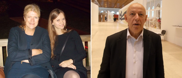 Left: Manifesta's Hedwig Fijen and Elena Yushina at the Garage. Right: Moscow Biennale commissioner Joseph Backstein.
