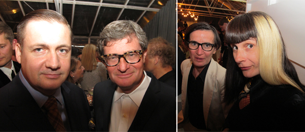 Left: Artist Fredrik Soderberg and Magasin 3 director David Neuman. Right: Artist Béatrice Cussol (right).