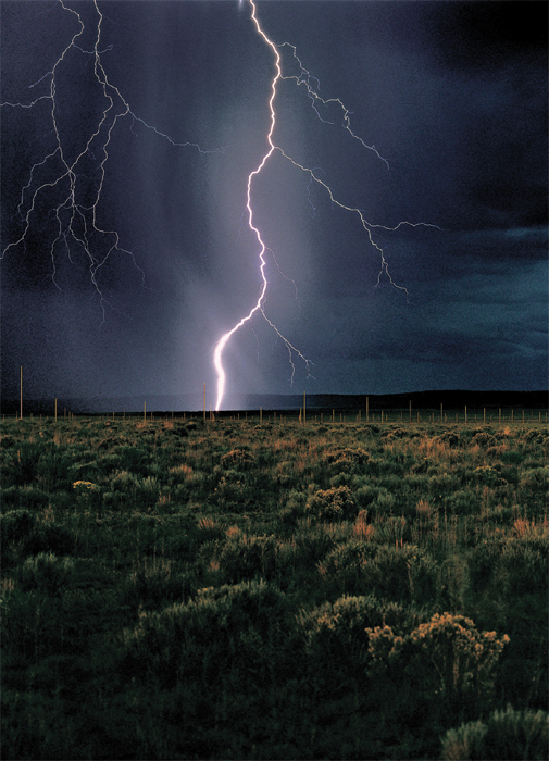 Walter De Maria, The Lightning Field, 1977, Quemado, New Mexico. Photo: John Cliett.
