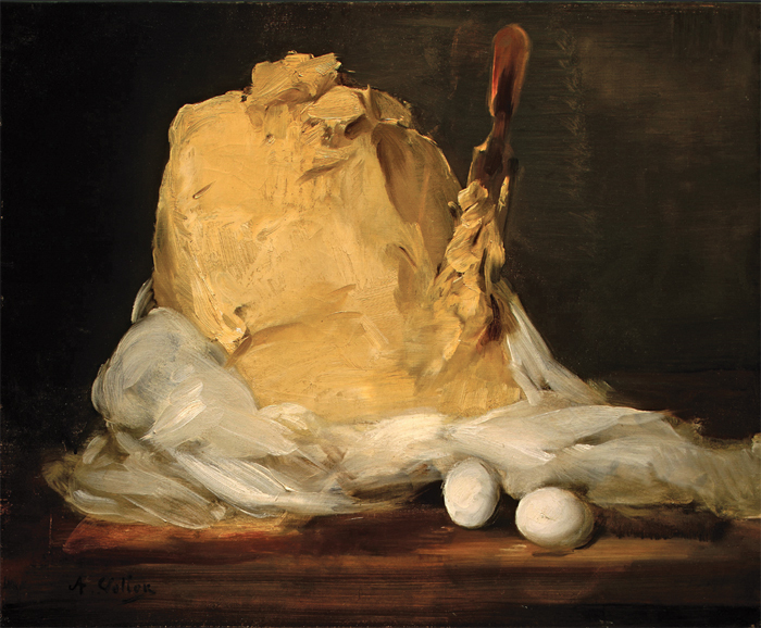 "Antoine Vollon, Mound of Butter, 1875–85, oil on canvas, 19 3/4 x 24""."
