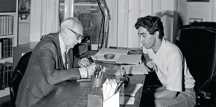 Claude Lévi-Strauss and Didier Eribon, Paris, 1984. Photo: Xavier Lambours.