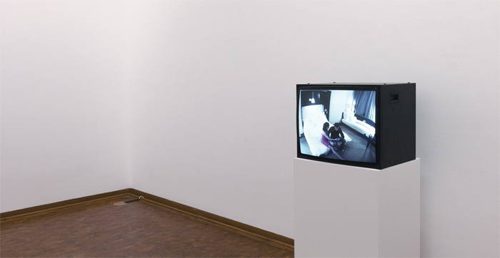 Andrea Fraser, Untitled, 2003, video, color, silent, 60 minutes. Installation view, Museum Ludwig, Cologne, 2013.