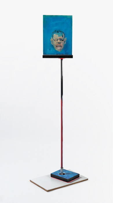 "Steve Locke, There Is No One Left to Blame, 2005–13, mixed media, 70 1/2 x 30 x 22""."