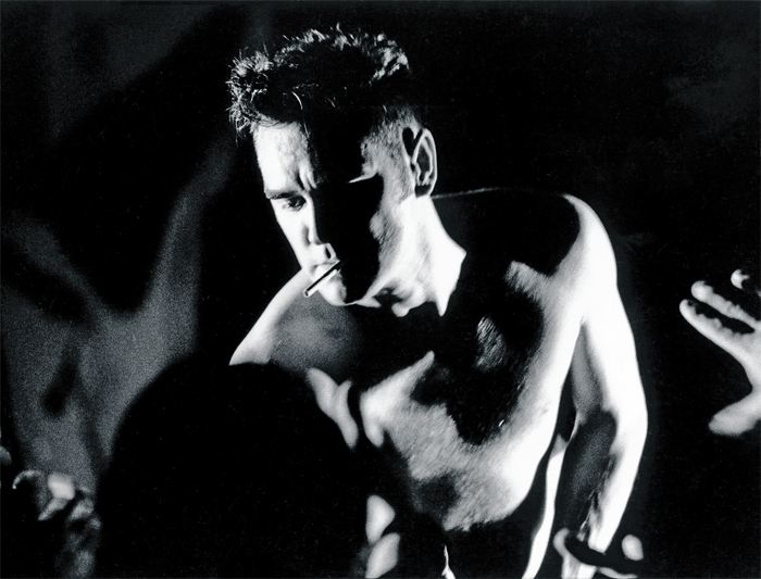 *Morrissey performing at Nassau Coliseum, Uniondale, NY, November 11, 1991.* Photo: Linder.