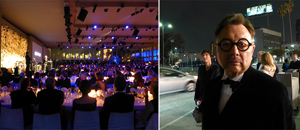 Left: The Art+Film Gala. Right: Restaurateur and artist Michael Chow.