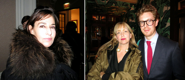 Left: Jewish Museum director Claudia Gould. Right: Photographer Jessica Craig-Martin and Metropolitan Museum curator of contemporary art Nicholas Cullinan.
