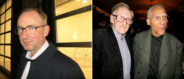 Left: Artist Gary Hume. Right: Critic Peter Schjeldahl and artist Martin Puryear.