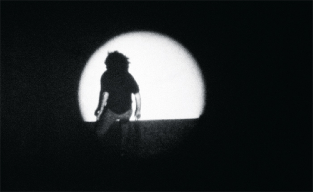 Jack Goldstein, A Spotlight, 1972, 16 mm, black-and-white, sound, 8 minutes.