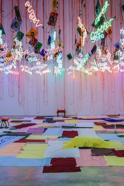 Jason Rhoades, Untitled (From My Madinah: In Pursuit of My Ermitage . . .), 2004/2013, mixed media. Installation view.