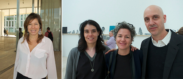 Left: Creative Time president Anne Pasternak. Right: Maria Mungia, David Zwirner director Bellatrix Hubert, and Patrick Charpenel.