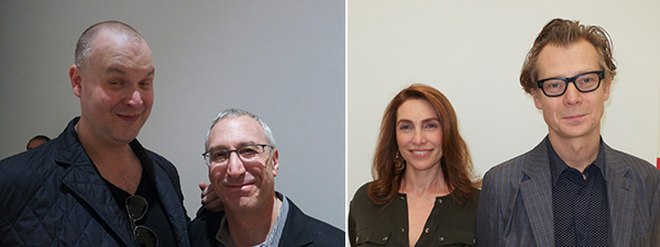 Left: Andy Warhol Foundation director Eric Shiner and Jeremy Strick. Right: Nathalie de Gunzburg and Philippe Vergne.