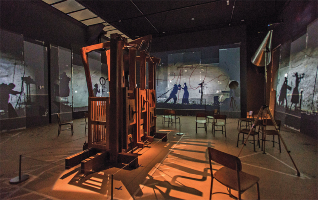William Kentridge, The Refusal of Time, 2012, five-channel video projection, sound, megaphones, mixed media. Installation view, Metropolitan Museum of Art, New York, 2013.