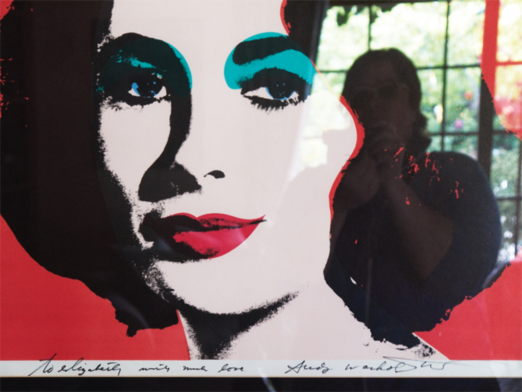 Catherine Opie, Andy Warhol to Elizabeth (Self-Portrait Artist), 2010–11, ink-jet print.