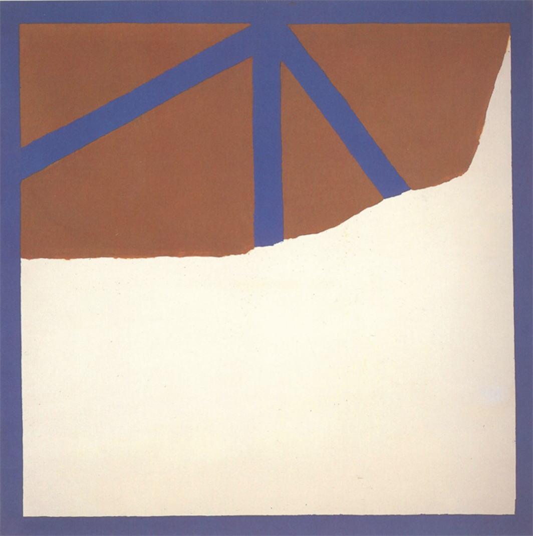 "James Bishop, Other Colors, 1964, oil on canvas, 59 x 59""."